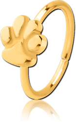 GOLD PVD COATED SURGICAL STEEL GRADE 316L SEAMLESS RING - PAW