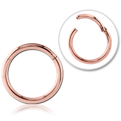 ROSE GOLD PVD COATED SURGICAL STEEL GRADE 316L HINGED SEGMENT RING