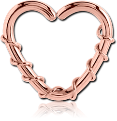 ROSE GOLD PVD COATED SURGICAL STEEL GRADE 316L OPEN HEART SEAMLESS RING