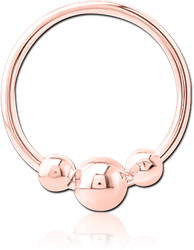 STERLING 925 SILVER ROSE GOLD PVD COATED SEAMLESS RING