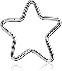 SURGICAL STEEL GRADE 316L OPEN STAR SEAMLESS RING