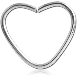 TITANIUM ALLOY OPEN HEART CONTINUOUS RING