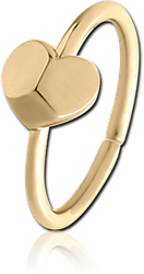 ZIRCON GOLD PVD COATED SURGICAL STEEL GRADE 316L SEAMLESS RING