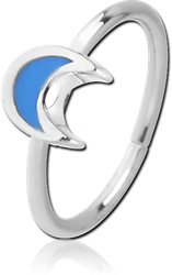 SURGICAL STEEL GRADE 316L SEAMLESS RING - CRESCENT