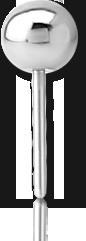 SURGICAL STEEL GRADE 316L THREADLESS INTERNAL BALL