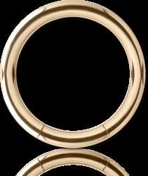 18 KARAT GOLD YELLOW SMOOTH SEGMENT RING
