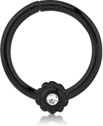 BLACK PVD COATED SURGICAL STEEL GRADE 316L SEAMLESS RING