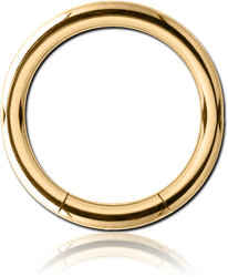 GOLD PVD 18K COATED SURGICAL STEEL GRADE 316L SMOOTH SEGMENT RING