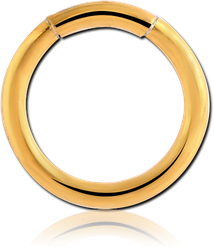 GOLD PVD COATED SURGICAL STEEL GRADE 316L SMOOTH SEGMENT RING