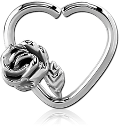 SURGICAL STEEL GRADE 316L OPEN HEART CONTINUOUS RING