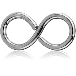 SURGICAL STEEL GRADE 316L OPEN INFINITY CONTINUOUS RING