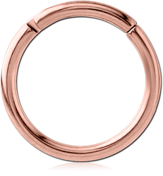 ROSE GOLD PVD COATED TITANIUM ALLOY HINGED SEGMENT RING