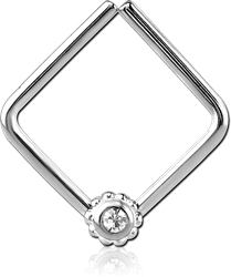 SURGICAL STEEL GRADE 316L OPEN SQUARE SEAMLESS RING