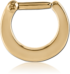 GOLD PVD 18K COATED SURGICAL STEEL GRADE 316L HINGED SEPTUM CLICKER