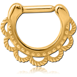 GOLD PVD COATED SURGICAL STEEL GRADE 316L SEPTUM CLICKER