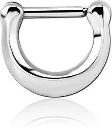 SURGICAL STEEL GRADE 316L HINGED SEPTUM CLICKER