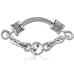 SURGICAL STEEL GRADE 316L JEWELED SEPTUM CLICKER RING