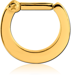 STERILE GOLD PVD COATED SURGICAL STEEL GRADE 316L HINGED SEPTUM CLICKER