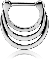 STERILE SURGICAL STEEL GRADE 316L HINGED SEPTUM CLICKER