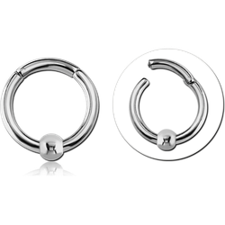 SURGICAL STEEL GRADE 316L HINGED SEGMENT RING