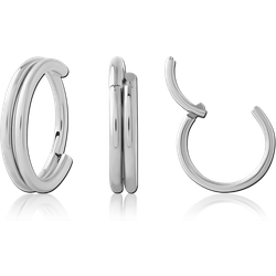 SURGICAL STEEL GRADE 316LHINGED SEGMENT RING