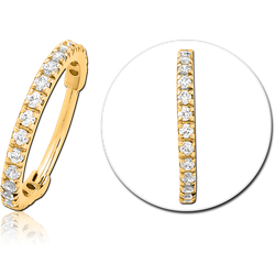 GOLD PVD COATED SURGICAL STEEL GRADE 316L JEWELED HINGED SEGMENT CLICKER