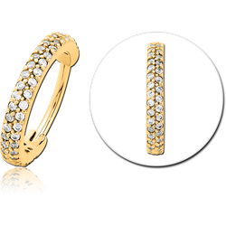 GOLD PVD COATED SURGICAL STEEL GRADE 316L JEWELED MULTI PURPOSE CLICKER