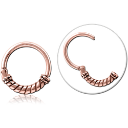 ROSE GOLD PVD COATED SURGICAL STEEL GRADE 316L HINGED SEGMENT CLICKER