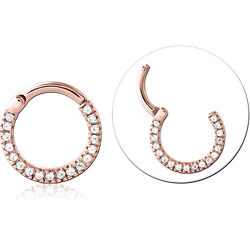 ROSE GOLD PVD COATED SURGICAL STEEL GRADE 316L JEWELED MULTI PURPOSE CLICKER