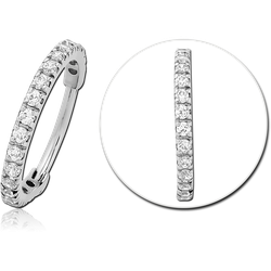 SURGICAL STEEL GRADE 316L JEWELED HINGED SEGMENT CLICKER