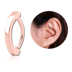 ROSE GOLD PVD COATED SURGICAL STEEL GRADE 316L ROOK CLICKER