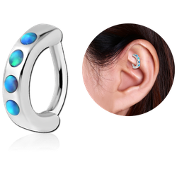SURGICAL STEEL GRADE 316L SYNTHETIC OPAL ROOK CLICKER