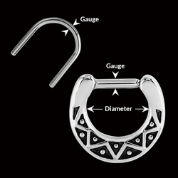 measurement of SEPTUM JEWELRY
